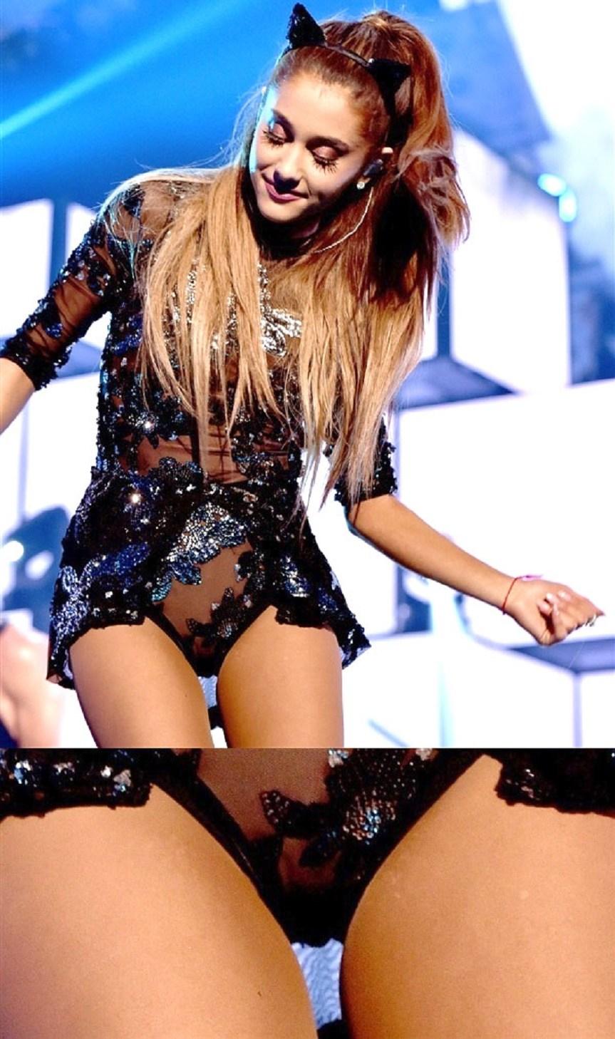 Ariana Grande upskirt pussy