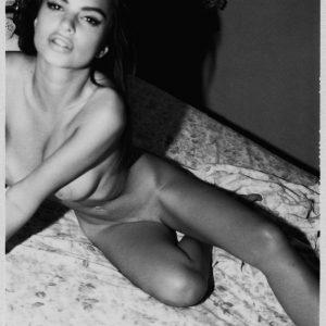 emily ratajkoski nude on her bed
