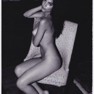model emily ratajkoski naked on a chair