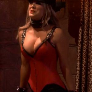 hot kaley cuoco in corset