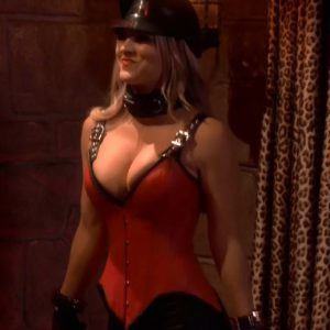 big bang theory kaley cuoco sexy outfit showing cleavage