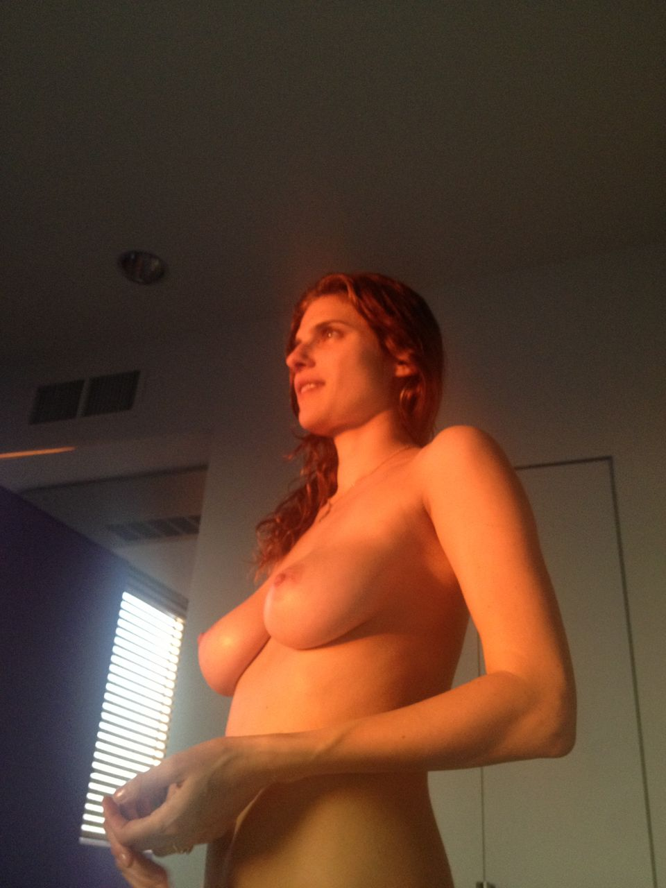 lake bell totally topless and naked in leaked pic