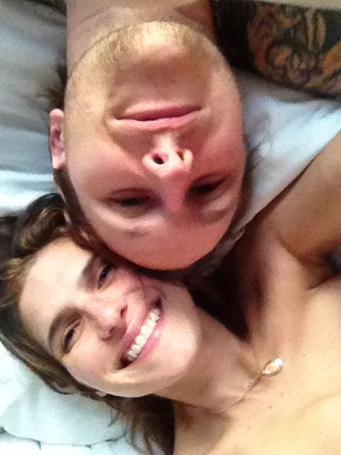selfie of lake bell and husband in private leaked pic
