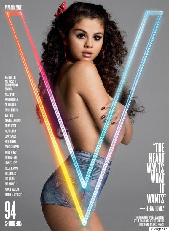 singer selena gomez topless for magazine shoot