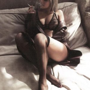 kylie jenner smoking in see through lingerie