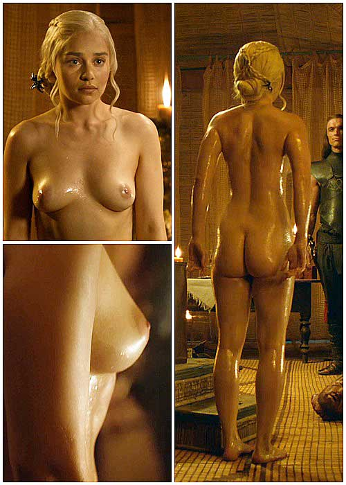 Game of Thrones Emilia Clarke nude pic of her entire body and close ups