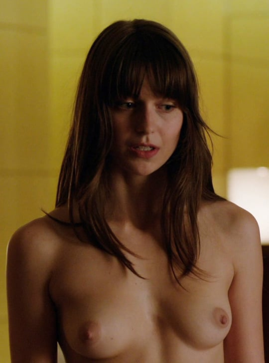 Melissa Benoist sexy topless pic in movie scene