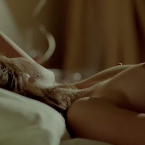 actress melissa benoist big tits and nipples exposed while in bed
