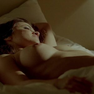 sexy pic of melissa benoist nipple and tit exposed while lying in bed