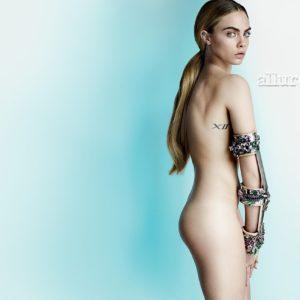 Cara Delevingne naked in allure