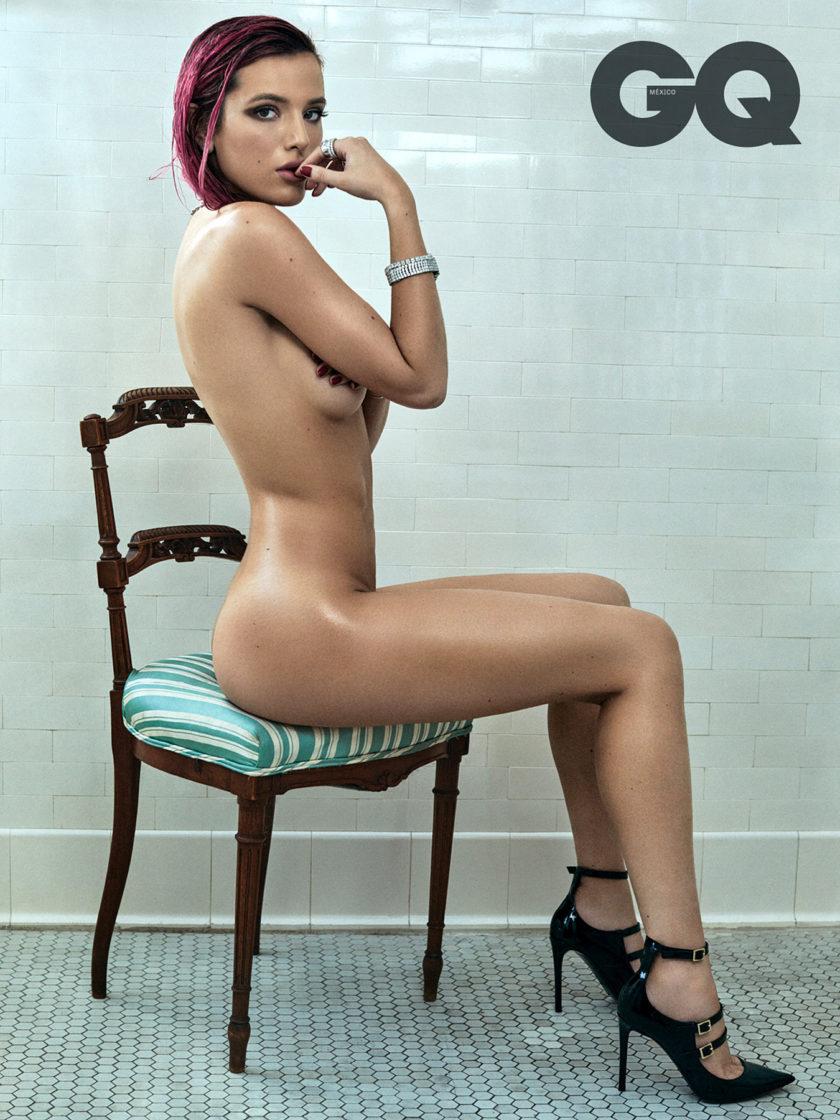 Bella Thorne topless GQ