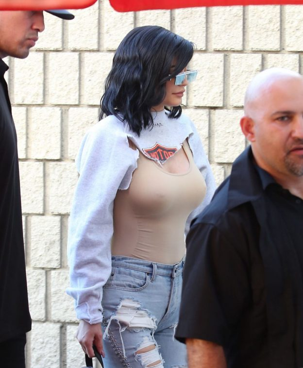 Kylie Jenner see through nipples